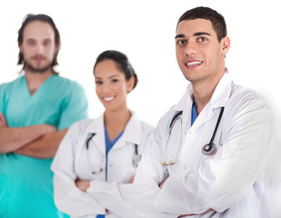 Group of doctors smiling at the camera