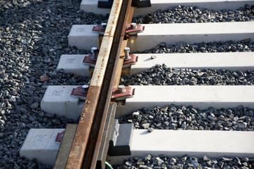 Detail of new tram railroad.