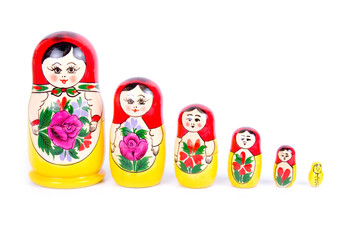Group of Russian nesting dolls