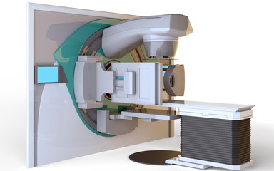 Linear Accelerator isolated on white background