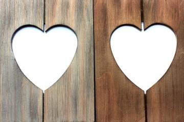 cadres photos en forme de coeur