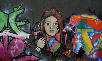 tag,graffiti,jeune,fille,drogue
