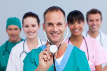 Portrait of an enthusiastic medical team