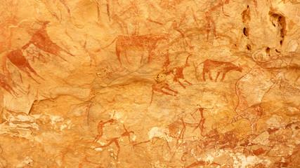 Fototapeten Algerien Peintures rupestres