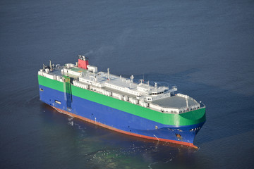 auto carrier ship at sea