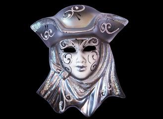 Venice mask on black background