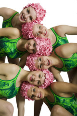 Wall Mural - Synchronized swimmers
