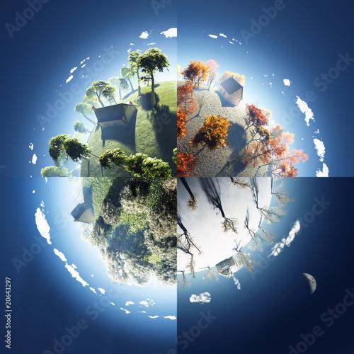 earth going through all the 4 season - HD4800×4800