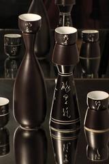 Still life with Traditional  Japanese sake serving set
