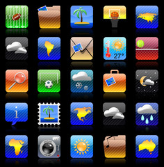 Iphone holiday icon set