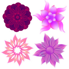 Set of abstract vector flowers.