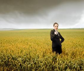 Business in a cornfield