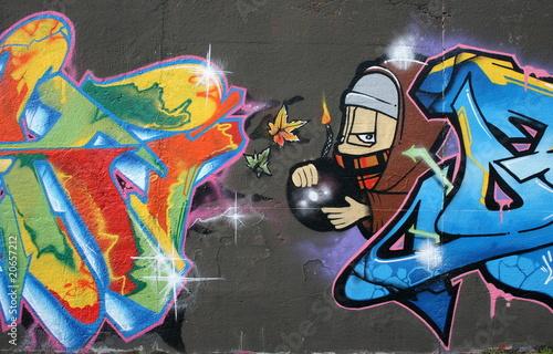 Tag Graffiti BombeMche Photo Libre De Droits Sur La Banque D
