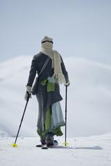 Skiwandern in traditionellem Gewand