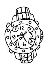 vector clock face cartoon tattoo fashion