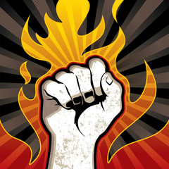 Fire fist background