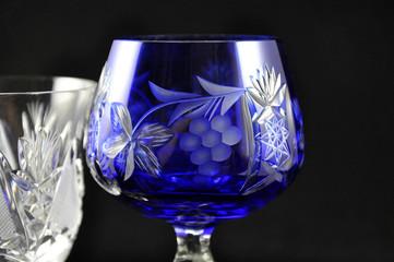 Blauer Weinkelch