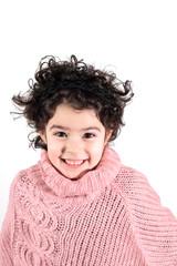 Portrait d'enfant brune