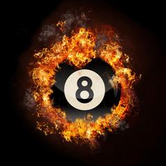 Flame 8 Ball