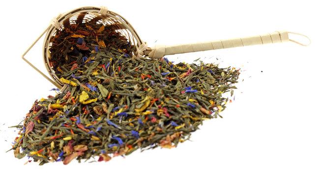 thé tradition, fond blanc