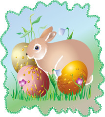 """"""" An easter egg and an easter hare """""""