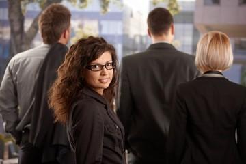 Portrait of businesswoman outdoor