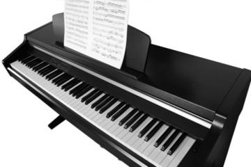 monochrome piano