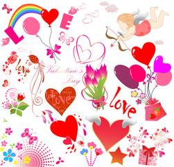 Set of cute design elements