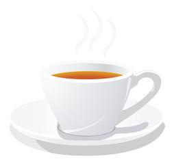 vector cup of hot tea