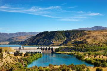 Aviemore hydroelectric dam, New Zealand