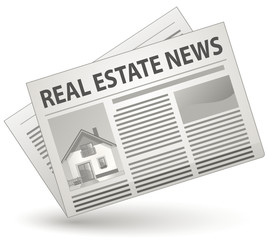 Real Estate News Concept. Vector illustration.