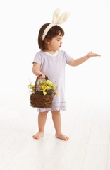Little girl in Easter costume