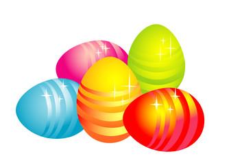 easter eggs, vector illustration