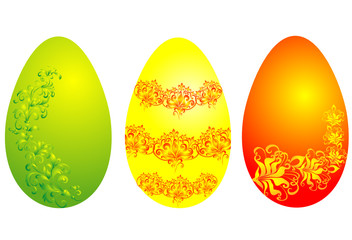 easter eggs, vector illustration