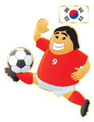 Football mascot South Korea