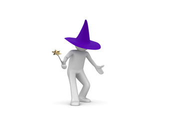 Wizard isolated on white background