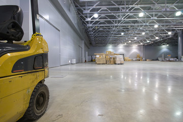 Loader in modern storehouse