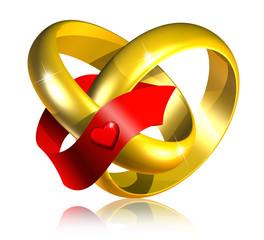 Fedi Matrimonio-Connected wedding rings-Bagues Mariage-3d-2