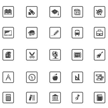 top grey iconset 1 - education
