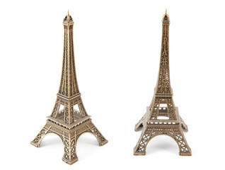 Small bronze copy of Eiffel Towers,