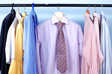 Next Day - Mix color Shirt and Tie on Hangers