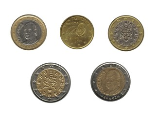 Spain and Portugal, euro coins