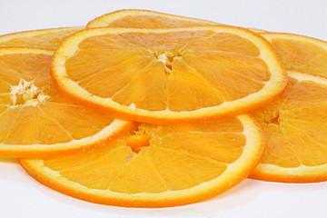 Spoed Foto op Canvas Plakjes fruit 5 Orangenscheiben