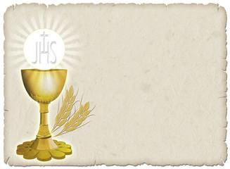 Printed kitchen splashbacks Draw Religione Calice e grano-Religion Cup and Corn-2