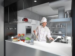 Expert female chef