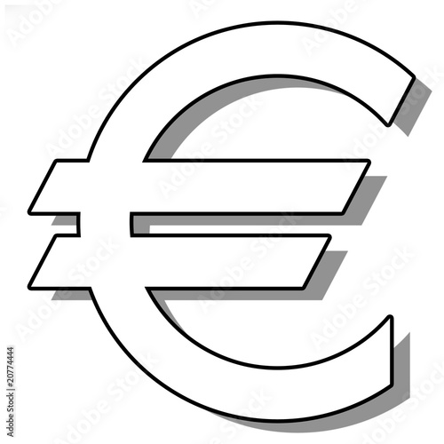 sigle de l 39 euro photo libre de droits sur la banque d 39 images image 20774444. Black Bedroom Furniture Sets. Home Design Ideas