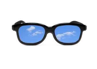 lunettes,ciel et nuages