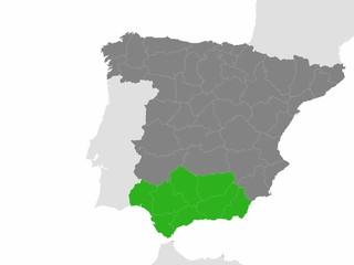 Andalucia con todo el mapa de españa