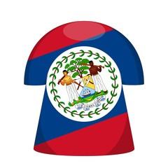 maillot bélize drapeau belize flag