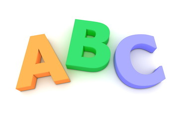 Colourful ABC From Top